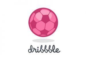 Mẫu thiết kế logo quả bóng màu hồng