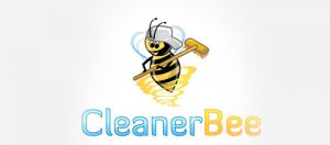 Mẫu thiết kế logo dịch vụ làm sạch Cleaner Bee